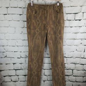 Chico's Reptile Print Pants ~ Size 0.5